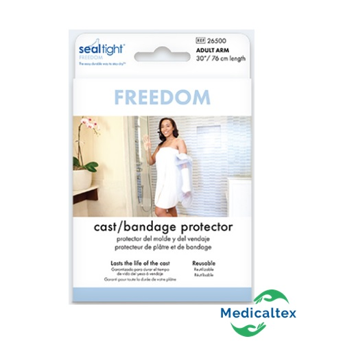 protector de yeso, brazo, adulto, yeso, protector impermeable