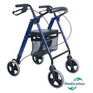andador 4 ruedas, rollator. andador ortopedico, adulto mayor, andador plegable, asiento, anciano