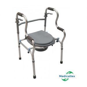 Andador doble apoyo, andador con silla sanitario, silla sanitario, elevador inodoro, andador
