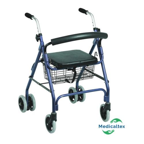 andador 4 ruedas, andador con asiento, rollator, andador con freno de presion, andador
