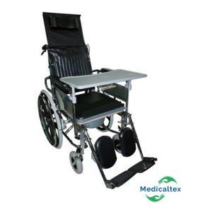 silla de ruedas neurologica, silla 5en1, silla 5 en 1, silla con inodoro, silla con sanitario, silla reclinable