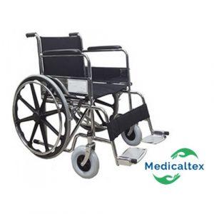 silla de ruedas, silla de ruedas estandar, silla de ruedas cromada