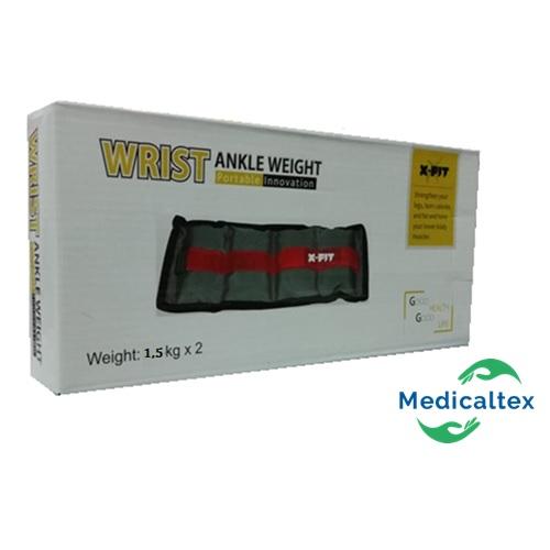Tobillera con Peso - Muñequera con peso 1 Kg. MEDICALTEX SAC