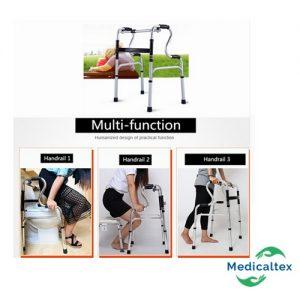 andador doble apoyo, andador marcapaso, andador fijo, silla para ducha, silla sanitario, andador ortopedico, andador multiusos, andador multifuncional