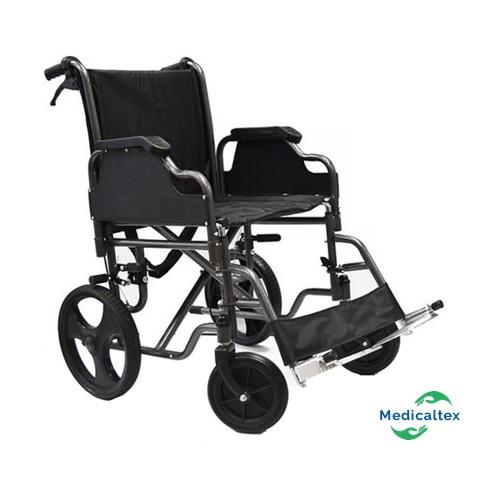 silla de paseo, silla de transporte, silla geriatrica, silla de ruedas de fierro,