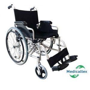 Silla de ruedas de aluminio, silla de rueda plegable, silla de ruedas ligera
